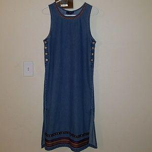 TY Wear Aztec Print Denim Dress